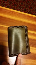 Deluxe Trifold Wallet, closed by Refiner