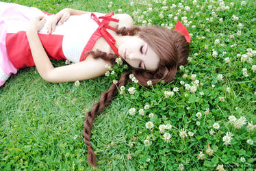 Aerith - Rest in flowers by sophie-art