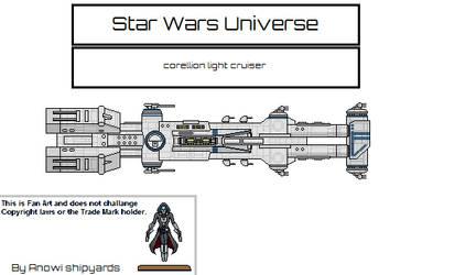 Corellion Light Cruiser by AnowiShipyards