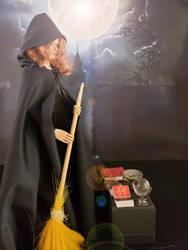 Larina prepares her altar by WebWarlock