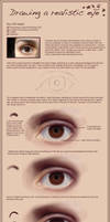 Drawing a realistic eye by Edana