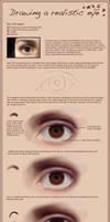 Drawing a realistic eye by Edana