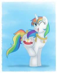 Pony Portrait-Mew Angel (CM) by Faith-Wolff
