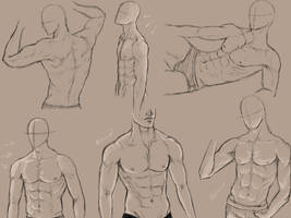 male anatomy practice by KingMaria