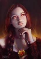 Melisandre - Game Of Thrones fan art by waldziur
