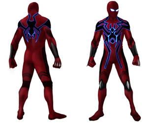 Spider man costume design by Coldflowli