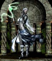 Drow Sorceress by prinzesser
