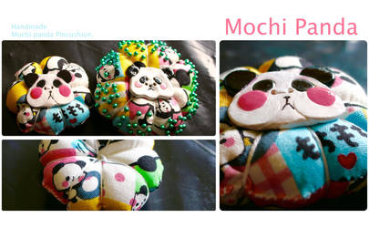 Mochi Panda Pincushion #2 by CanelaRose
