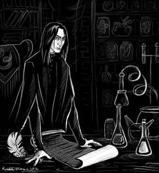 Severus Snape by kissyushka