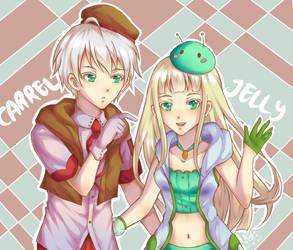 OC - Carrel and Jelly by katoru92