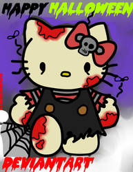 Hello Zombie Kitty came to say Happy Halloween! by ILoveEdwardRichtofen