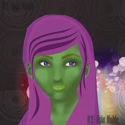 Alien girl by natasian