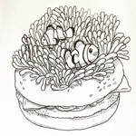 Anemone Fish and Anemone Burger by natasian