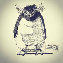 Penguin and Nesting Burger by natasian