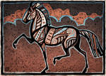 Woodblock Cloudhorse by Starhorse