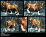 First traditional size repaint: 'Golden Boy' by Starhorse