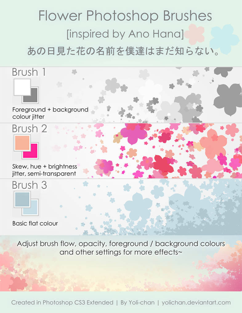 Ano Hana Flower Photoshop Brush by yolichan