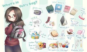 What's in Yoli's Bag: School edition by yolichan