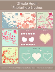 Heart Photoshop Brushes by yolichan