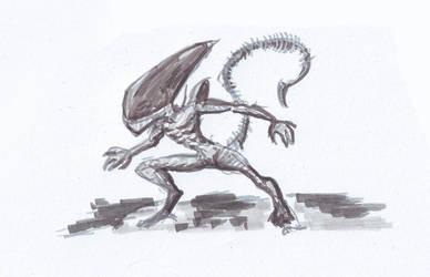 Alien marker  doodle by hde2009