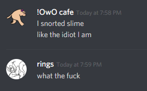 snorts slime by SSSpring