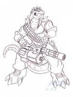 Heavy Weapons Goji by AlmightyRayzilla