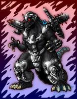 Trendmasters Power-Up Godzilla by AlmightyRayzilla