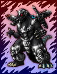 Trendmasters Power-Up Godzilla by AlmightyRayzilla