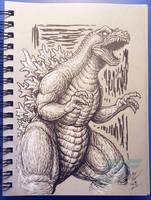 Graytone GMK Godzilla by AlmightyRayzilla