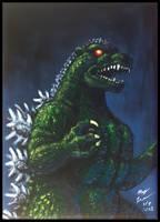 TM Godzilla painting by AlmightyRayzilla