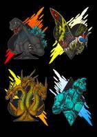 Kaiju Suits by AlmightyRayzilla