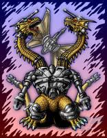 Trendmasters Power-Up Mecha-King Ghidorah by AlmightyRayzilla