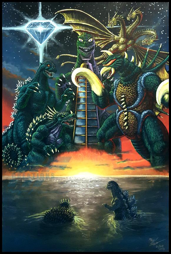 GODZILLA VS GIGAN (Toybox Edition) by AlmightyRayzilla