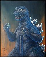 Godzilla 1968 painting by AlmightyRayzilla