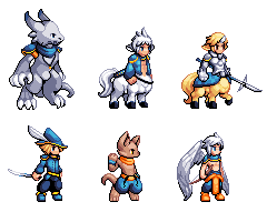 RPG Characters 1 by Kaiseto