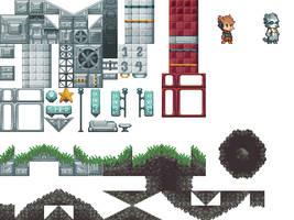 Spacegame Tileset by Kaiseto