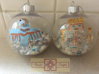Artisan Tribes Tree Ornaments by rosiecrafts