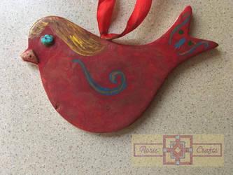 Artisan Tribes Bird Ornament by rosiecrafts