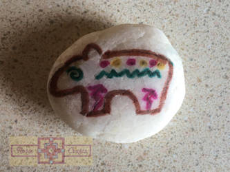 Artisan Tribes Spirit Bear Rock by rosiecrafts