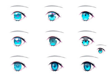 Anime Eyes variation by chalii
