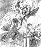 Moon Knight pencils by dfbovey