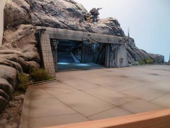 scifi space ship landing zone #4 by JieF-R