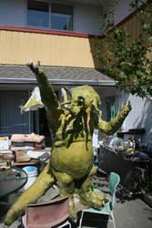 Cthulh Sculpture : In Progress by dewolfe001