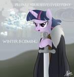 Cloudsdale winter is coming by Valinhya