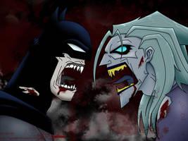 Wallpaper Batman VS Joker by Gabe666