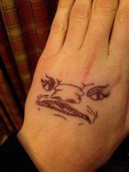 Hand Face Thingy by Deltamatrix