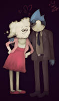 Mordecai and Cloudy Jane by KumiEevee