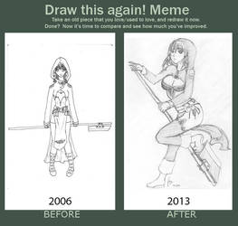 Sketch: Draw This Again New Costume by supirdelman