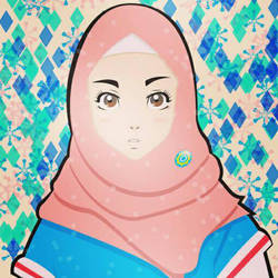Hijabi in Snowflakes by supirdelman