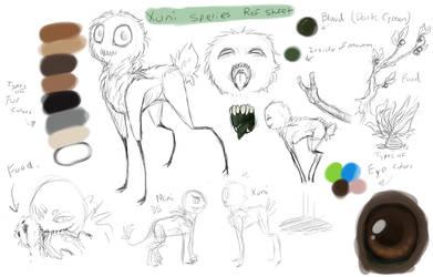 Xuni Species Ref sheet - OPEN Species by AccursedAsche